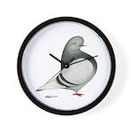 Silver Domestic Flight Wall Clock