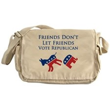 Friends Dont Let Friends Vote Republ Messenger Bag