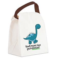 dinosaur Canvas Lunch Bag