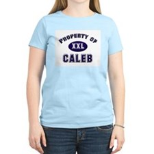 Property of caleb Women's Pink T-Shirt