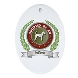 Terrier Adopted Oval Ornament