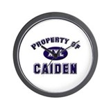 Property of caiden Wall Clock