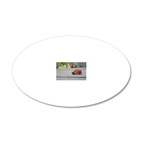 car play center 20x12 Oval Wall Decal