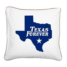 state-texas-forever-star-blue Square Canvas Pillow