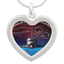 L Discovery Tribute Silver Heart Necklace