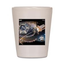 L Endeavour Tribute Shot Glass