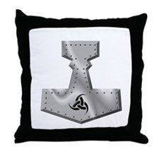 Steel Hammer Throw Pillow