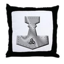Steel Hammer Throw Pillow