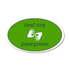 DeafDogIntepreterLogo 35x21 Oval Wall Decal