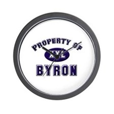 Property of byron Wall Clock