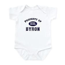 Property of byron Infant Bodysuit