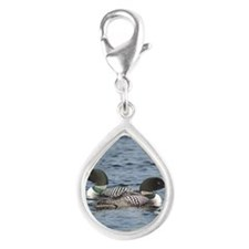 2.75x2 eight Silver Teardrop Charm