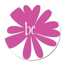 be_flower Round Car Magnet
