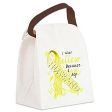 I Wear Yellow Because I Love My H Canvas Lunch Bag
