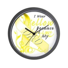 I Wear Yellow Because I Love My Dad Wall Clock