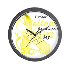 I Wear Yellow Because I Love My Son Wall Clock