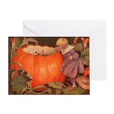 Peter, Peter Pumpkin Eater Print Greeting Card