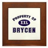 Property of brycen Framed Tile