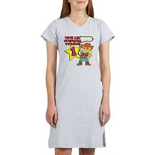 Little Cowgirl Turned 1 Women's Nightshirt