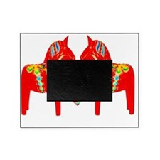 Swedish Dala Horses w Heart Picture Frame