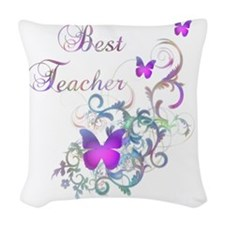 Best Teacher Woven Throw Pillow