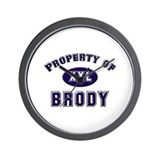 Property of brody Wall Clock