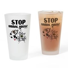 stop-animal-abuse-01 Drinking Glass