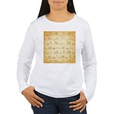 Books Pattern, Old Look Style. Long Sleeve T-Shirt