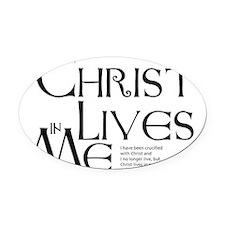 christ-lives Oval Car Magnet
