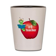 Number One Teacher Shot Glass