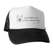 GermanShepherdBrotherWhite Trucker Hat