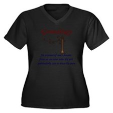 GENEALOGYana Women's Plus Size Dark V-Neck T-Shirt