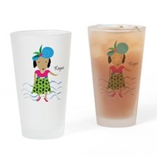 girl with hat-Rayna Drinking Glass