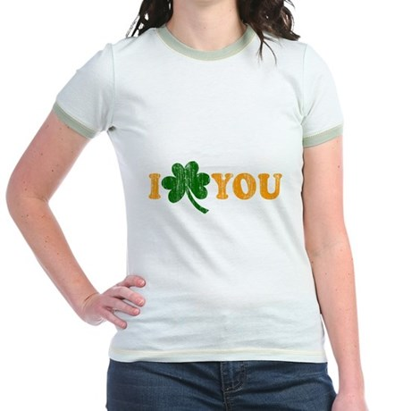 I Shamrock You Jr Ringer T-Shirt