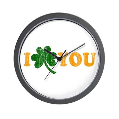 I Shamrock You Wall Clock
