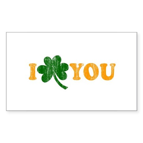 I Shamrock You Rectangle Sticker