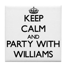 Keep Calm and Party with Williams Tile Coaster