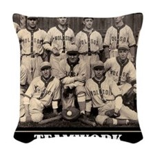 Teamwork Woven Throw Pillow