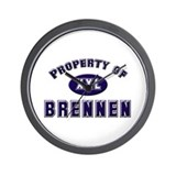 Property of brennen Wall Clock