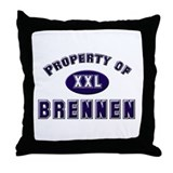 Property of brennen Throw Pillow