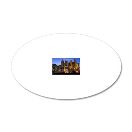 Las Vegas Poster 20x12 Oval Wall Decal