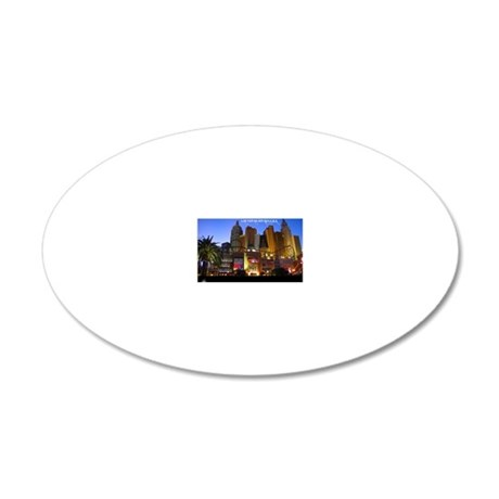 vegas postcard 20x12 Oval Wall Decal