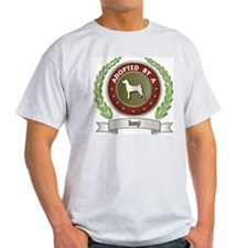 Basenji Adopted Ash Grey T-Shirt