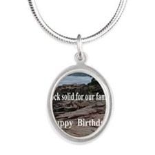 BD5x7 Silver Oval Necklace