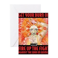 WAR WOMEN FIRE Greeting Card