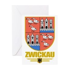 Zwickau (Flag 10) Greeting Card