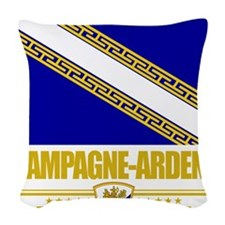 Champagne-Ardenne (Flag 10) Woven Throw Pillow