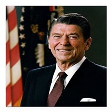 "reagan25 Square Car Magnet 3"" x 3"""