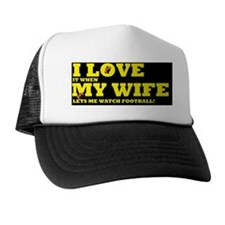 football ilovemy wifed Trucker Hat