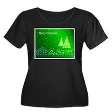 Green Merry Christmas Plus Size T-Shirt